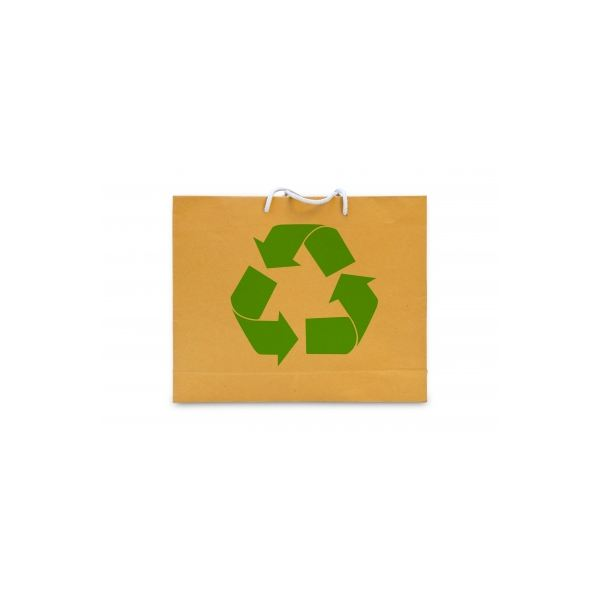 Bags, office paper and cups are among the products you find recycled paper.