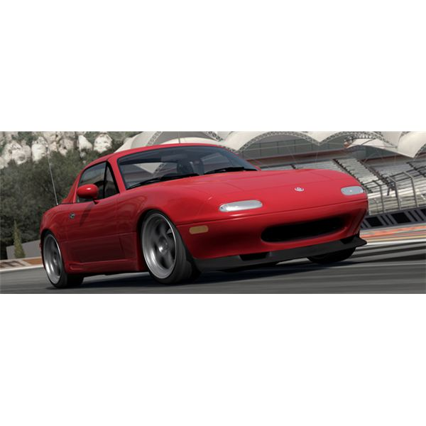 The Miata MX-5 is one of Forza 3's most agile cars