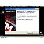 Installation Wizard of Malwarebytes in Safe Mode