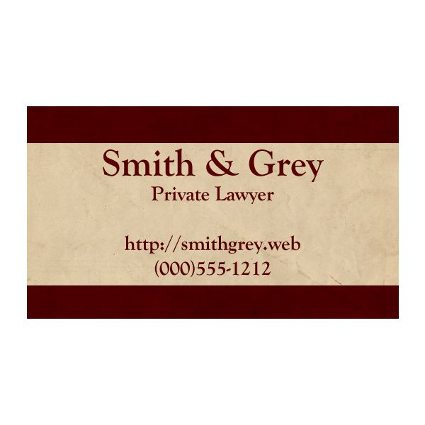 Designing business cards for lawyers tips tricks and free templates red and cream lawyer business card reheart Images