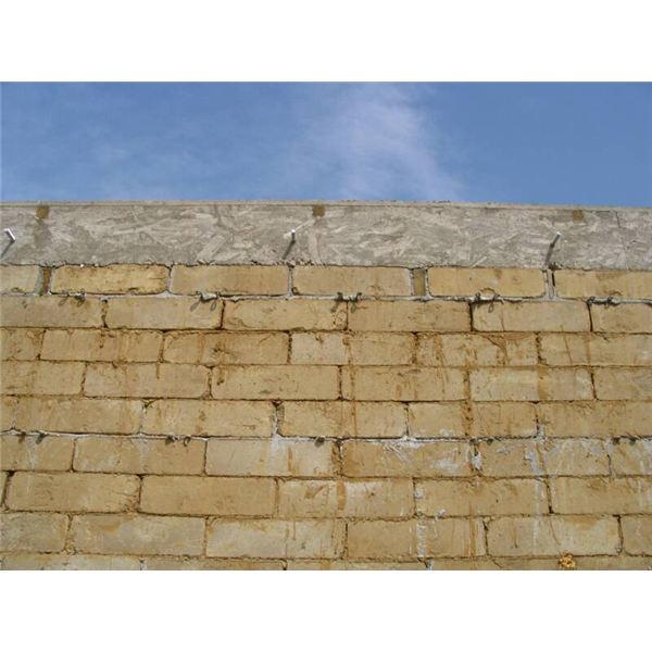 compressed earth block wall