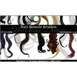 Wavy Hair Strands Brushes by redheadstock