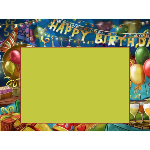 Party Room Birthday Border