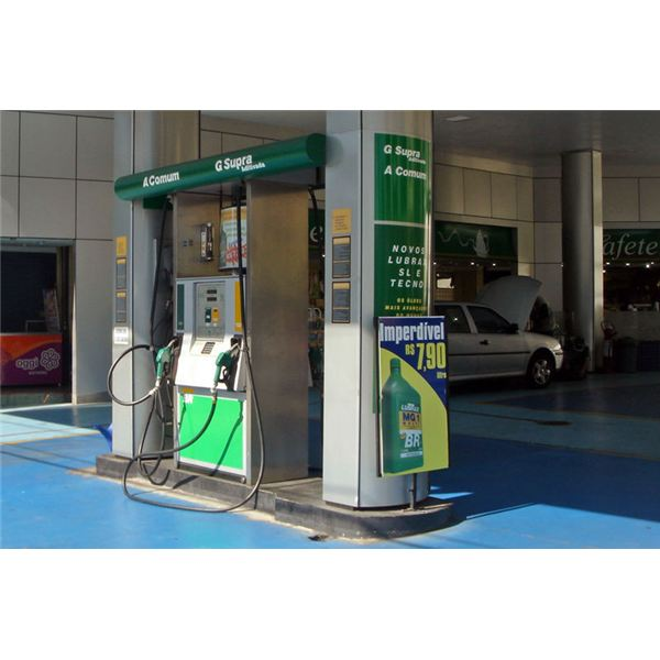 Gas Station at Sao Paulo, Brazil that Provides Ethanol