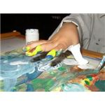 Little artists love to get hands-on with their art work.