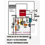 DIY Temperature Controller, Circuit Diagram, Image