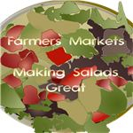 This bag template will print onto a fabric bag to help you express your love of farmers markets.