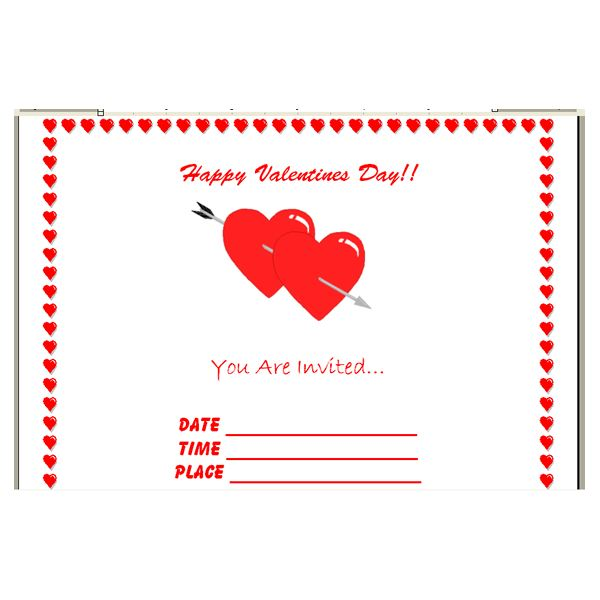 how to create valentines invitations in microsoft word finished