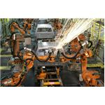 Production line robots welding
