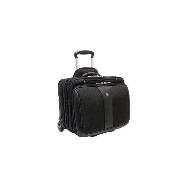 Wengar Patriot Rolling Case Blk Up to 17IN Laptop with notebook case included