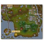Location of Southwest Lumbridge Mine