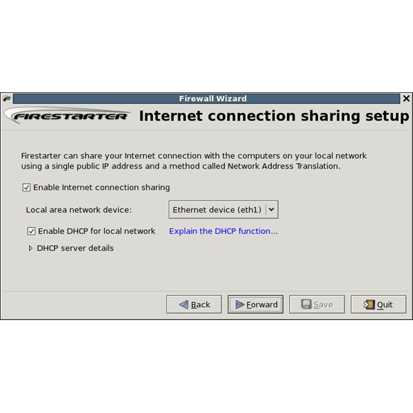 Internet Connection Sharing Setup Wizard