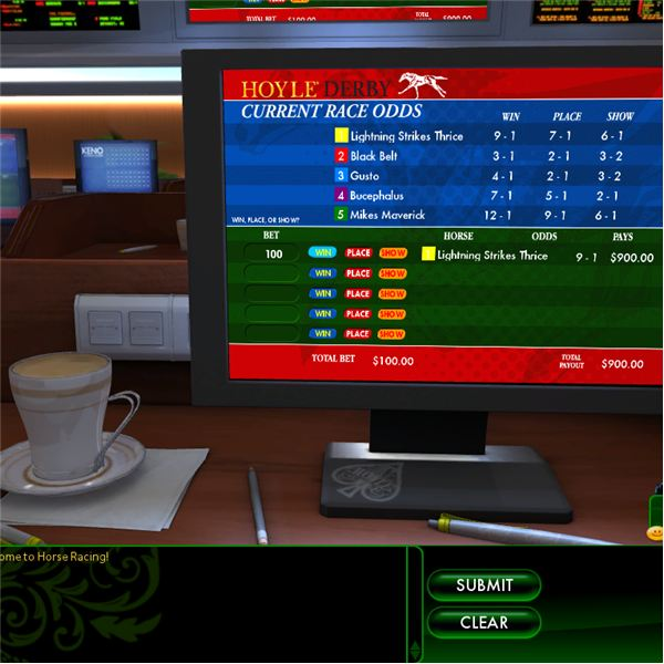Horse racing lounge.