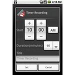 Voice Recorder Time Set Option For Android