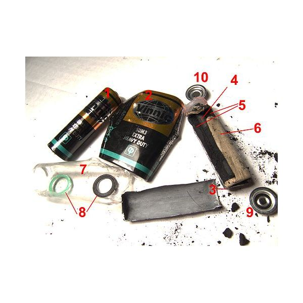 Dry cell Disassembled