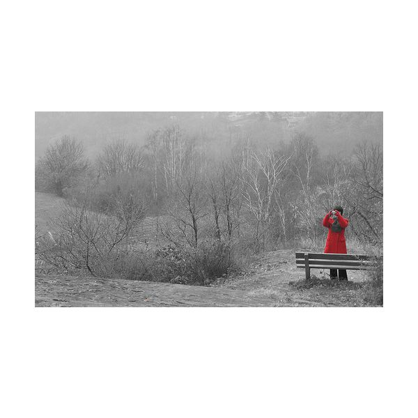 My Red Coat Selective Colorization