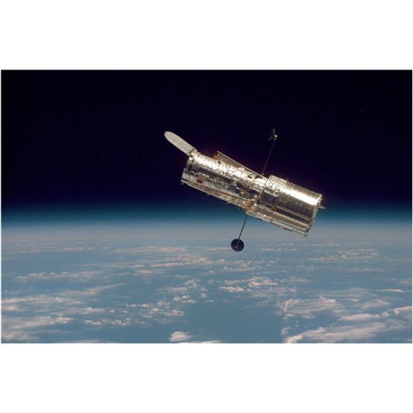 Hubble Orbiting in Space