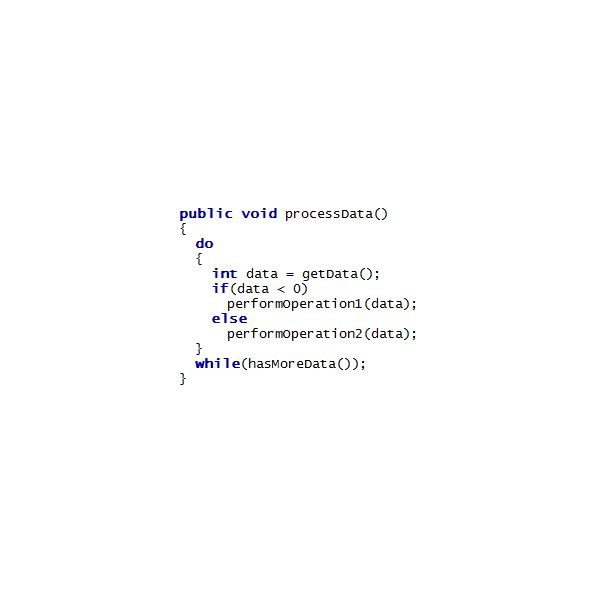 A Piece of Code Written in Java Language
