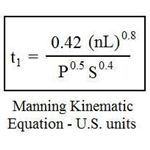 Manning kinematic equation US units