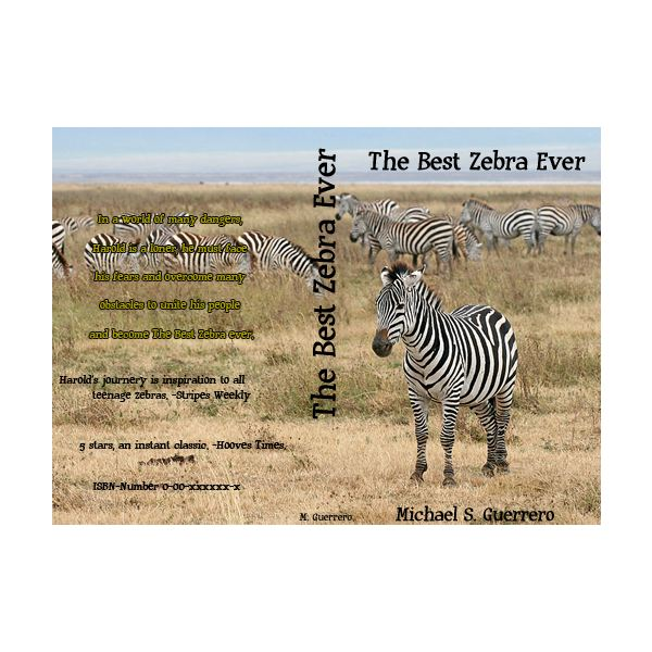 Harold is the best zebra.