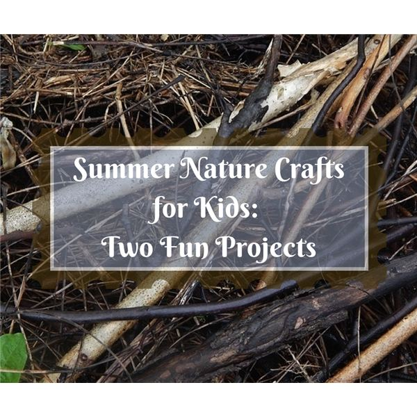 Two Fun, Simple and Affordable Summer Craft Projects for Kids Using Nature Walk Finds