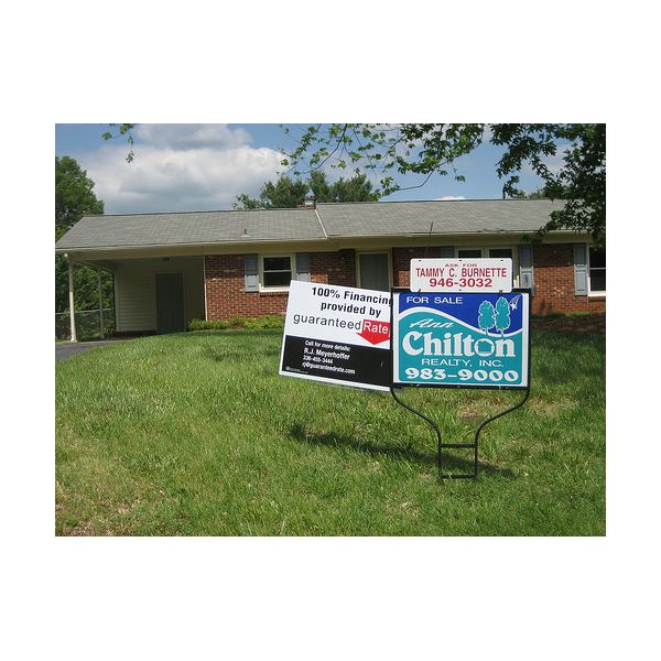 For sale signs are becoming more and more common in this buyers' market.