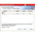 Installer - Protected Partition Selection