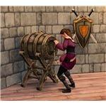 The Sims Medieval drunkard