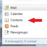Windows Live Mail Install: Contacts