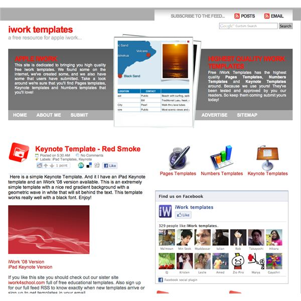 Iwork Community A Great Template Site For Numbers