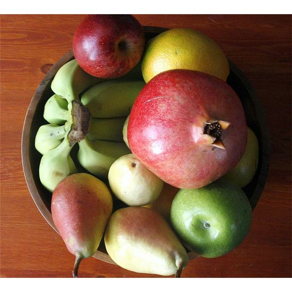 Fruit Bowl - Image Credit: Yosarian/creativecommons.org/licenses/by-sa/3.0/deed.en/commons.wikimedia.org/wiki/File:Fruit_bowl.jpg