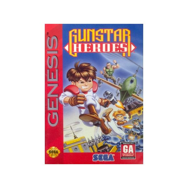 Gunstar Heroes - Original Genesis Box Art