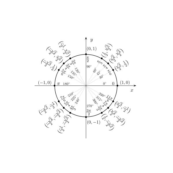 Unit Circle with Angles