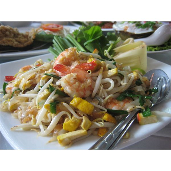 Pad Thai noodles are high in calories