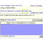 AOL Messages - Reply a Message