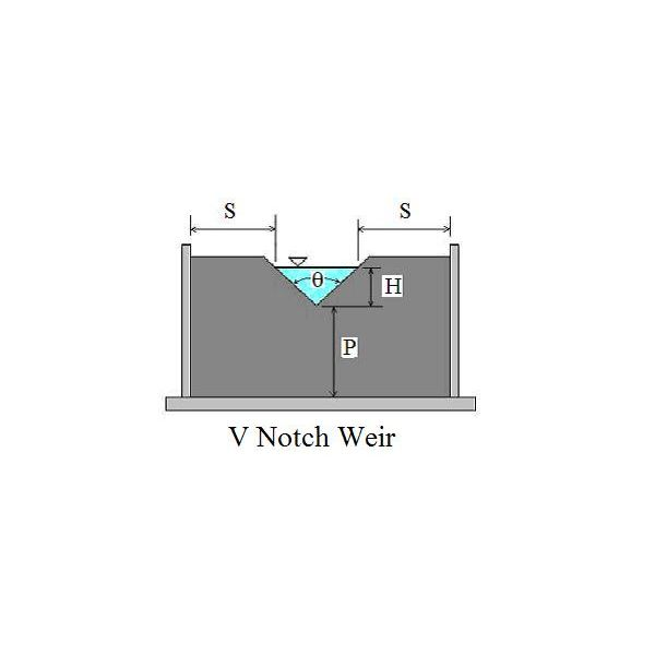 v notch weir diagram