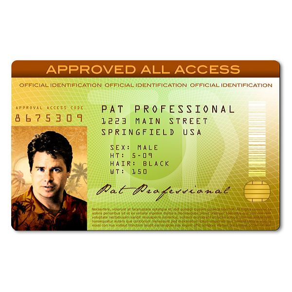 Great Photoshop ID Templates Use These Layouts To Create Your Own - Id badge template photoshop