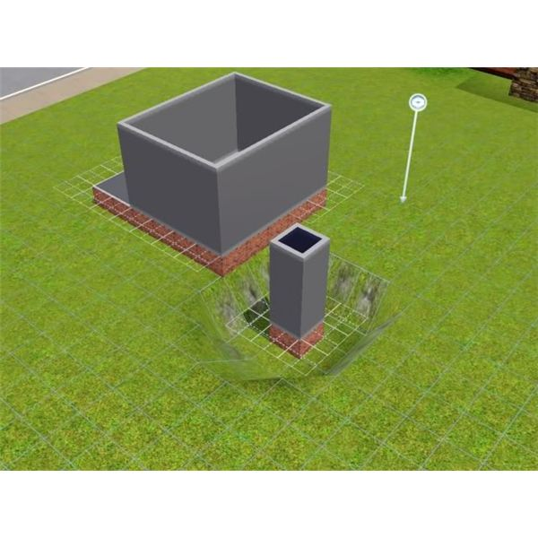 Creating an L-Shaped Staircase in with a Foundation in The Sims 3