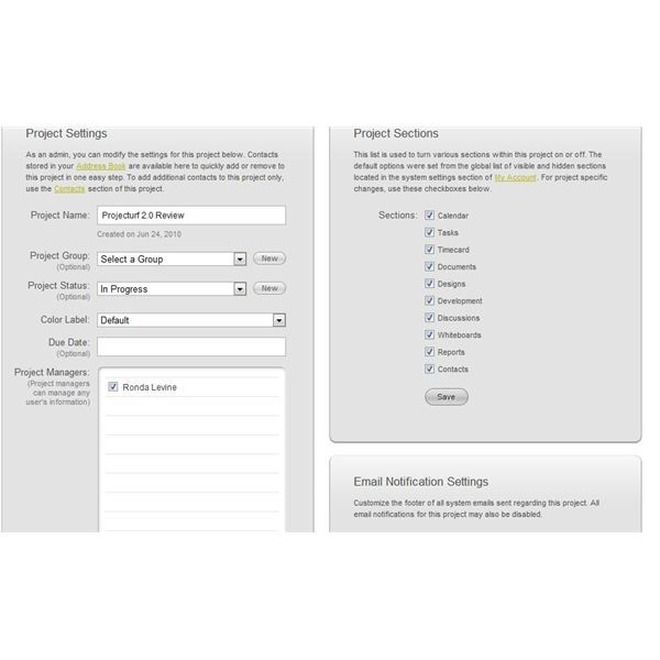 Projecturf 2.0 allows you to create project plans by clicking and dragging
