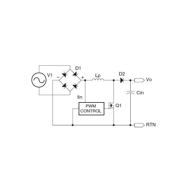 PFC Boost Pre-Regulator. Credit: Fairchild Semiconductor.