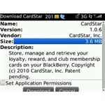 View a BlackBerry Application Size