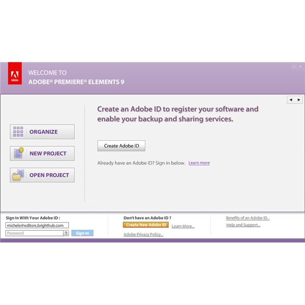 Create Adobe ID