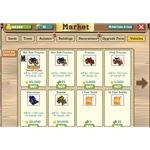 FarmVille vehicles at the Market with costs
