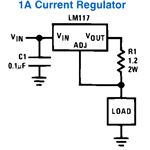 LM317, 1A Current Regulator Circuit Diagram, Image