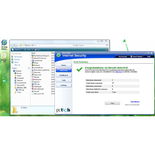 PC Tools Internet Security 2011 Malware Detection
