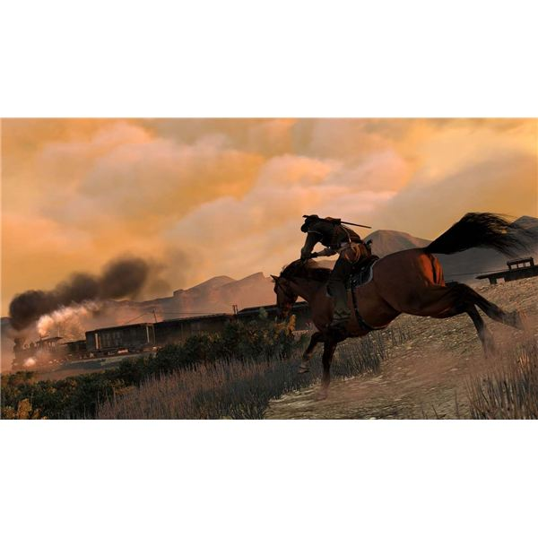 You'll spend more time with trains later on in Red Dead Redemption