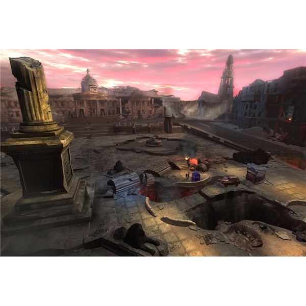 Devastated London as portrayed in new Doctor Who game City of the Daleks