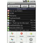 AndFTP For Google Android - FTP Browsing Files