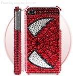 Spider-man Diamond Rhinestone Bling Hard Case for iPhone 4 (Red)220
