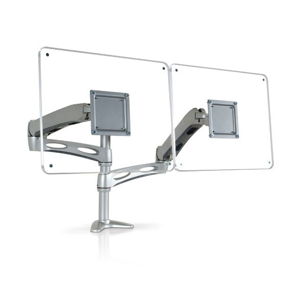 One Series Flat Panel Monitor Arm for Multiple Monitors by Ergoware
